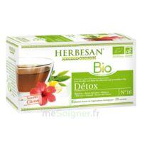 Herbesan Infusion Bio Tisane Détox 20 Sachets à ANNECY
