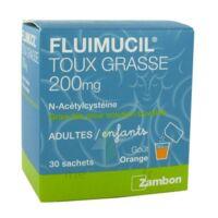 FLUIMUCIL EXPECTORANT ACETYLCYSTEINE 200 mg SANS SUCRE, granulés pour solution buvable en sachet édulcorés à l'aspartam et au sorbitol à ANNECY