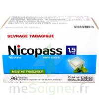 Nicopass 1,5 mg Pastille sans sucre menthe fraîcheur Plq/96 à ANNECY