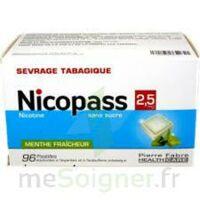 Nicopass 2,5 mg Pastille menthe fraîcheur sans sucre Plq/96 à ANNECY