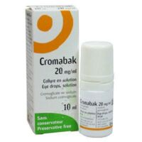 CROMABAK 20 mg/ml, collyre en solution à ANNECY