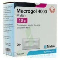 MACROGOL 4000 MYLAN 10 g, poudre pour solution buvable en sachet-dose à ANNECY